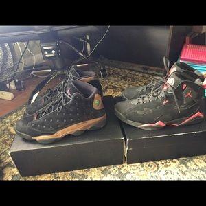 2 pairs of Jordan's